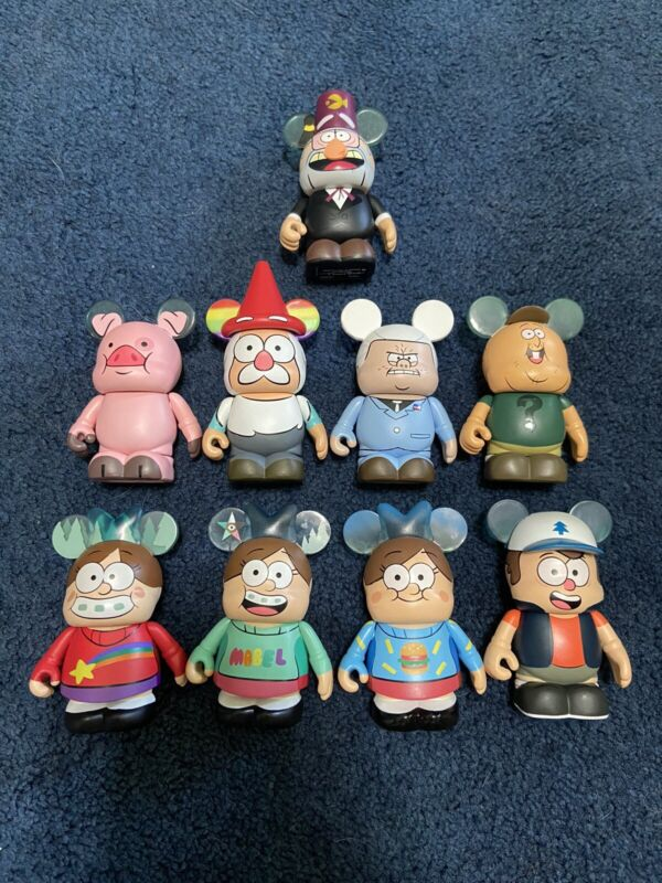 "Disney Vinylmation Gravity Falls Series Set Lot of 9 New Dipper Mabel Waddles 3"""