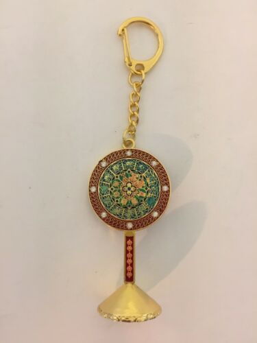 Feng Shui Hooking Abundance Mirror Amulet Keychain USA Seller
