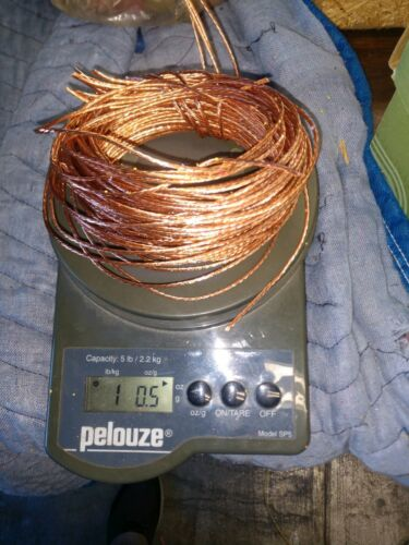 1 lb Copper  Wire Bare Bright #1 Metal Material Craft Art Strand/solid FREE SHIP