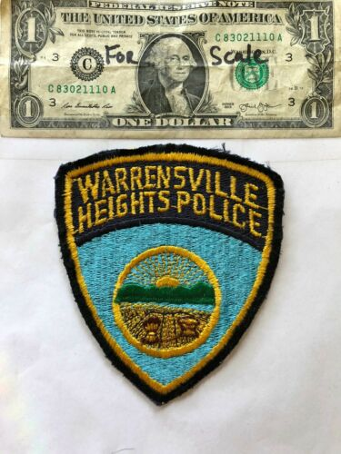 Warrensville Ohio Police Patch un-sewn in good shape