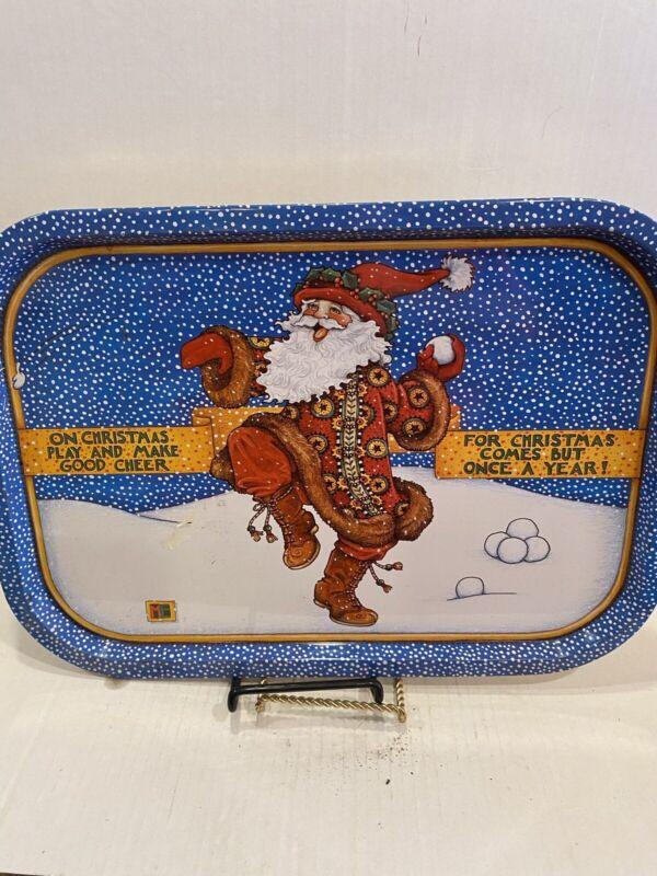 Mary Englebreit 1986 Santa On Christmas… Metal Tin Tray