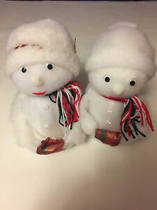 "11"" mr and mrs snowman"
