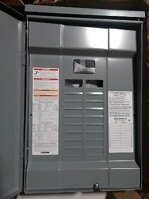 Square D 100 Amp 20-space Circuit Breaker Box Panel Load Center Outdoor