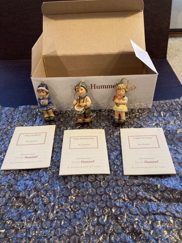 Berta Hummel Studio Hummel Ornaments - Set #8 (96038) w/COAs!!