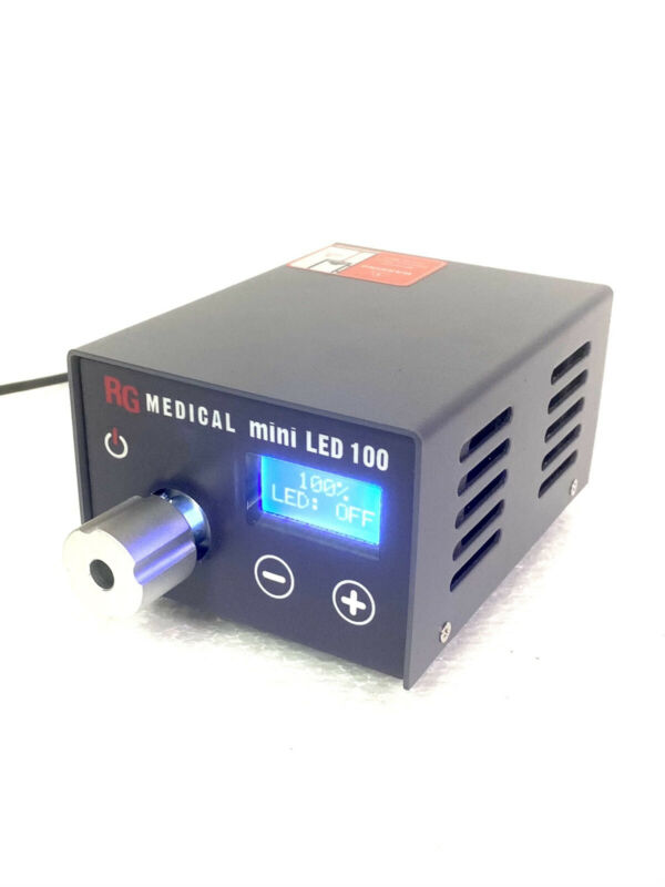 LED Super Mini 100W Endoscopic Light Source w/ Storz Style Cable & Wolf Adapter