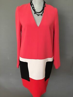 New and Authentic Max Mara Colorblock Dress, Size 8, MSRP $895.00, Italy