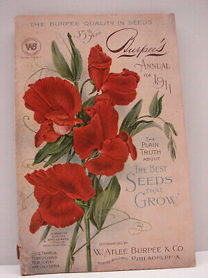 Rare!! 1911 Burpee's Seed Annual Philadelphia