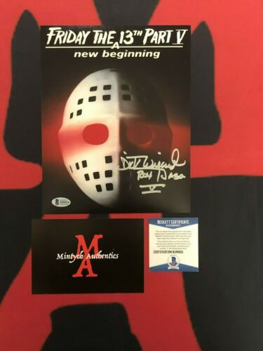 DICK WIEAND FRIDAY THE 13TH AUTOGRAPHED SIGNED 8X10  PHOTO! JASON! BECKETT COA!