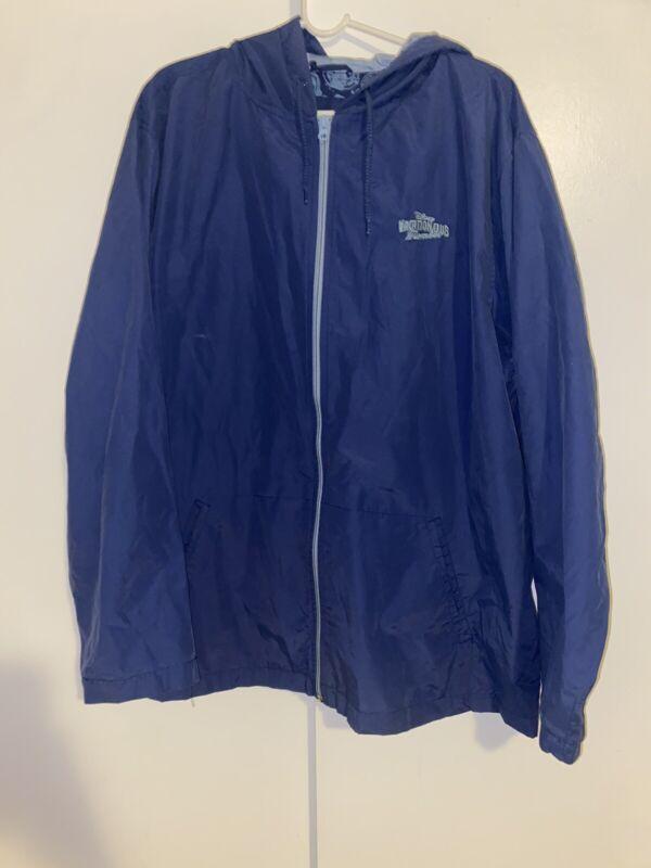Disney Parks Men's Vacation Club Member Full Zip Windbreaker Jacket Blue Sz 2XL