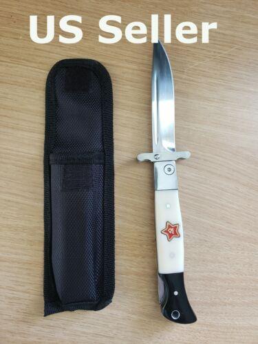 *US SELLER* Russian Finka NKVD KGB Folding Pocket Knife Outdoor Camping Финка