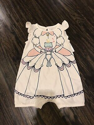 Gap Baby Girl Frog Princess Shorty Romper One Pc Size 3-6 Months NWT ()