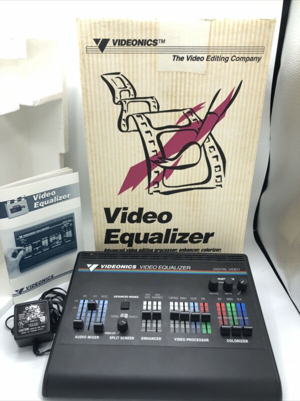 Vtg Videonics Video Equalizer Model VE-1 NTSC Tested & Working - Free Shipping!