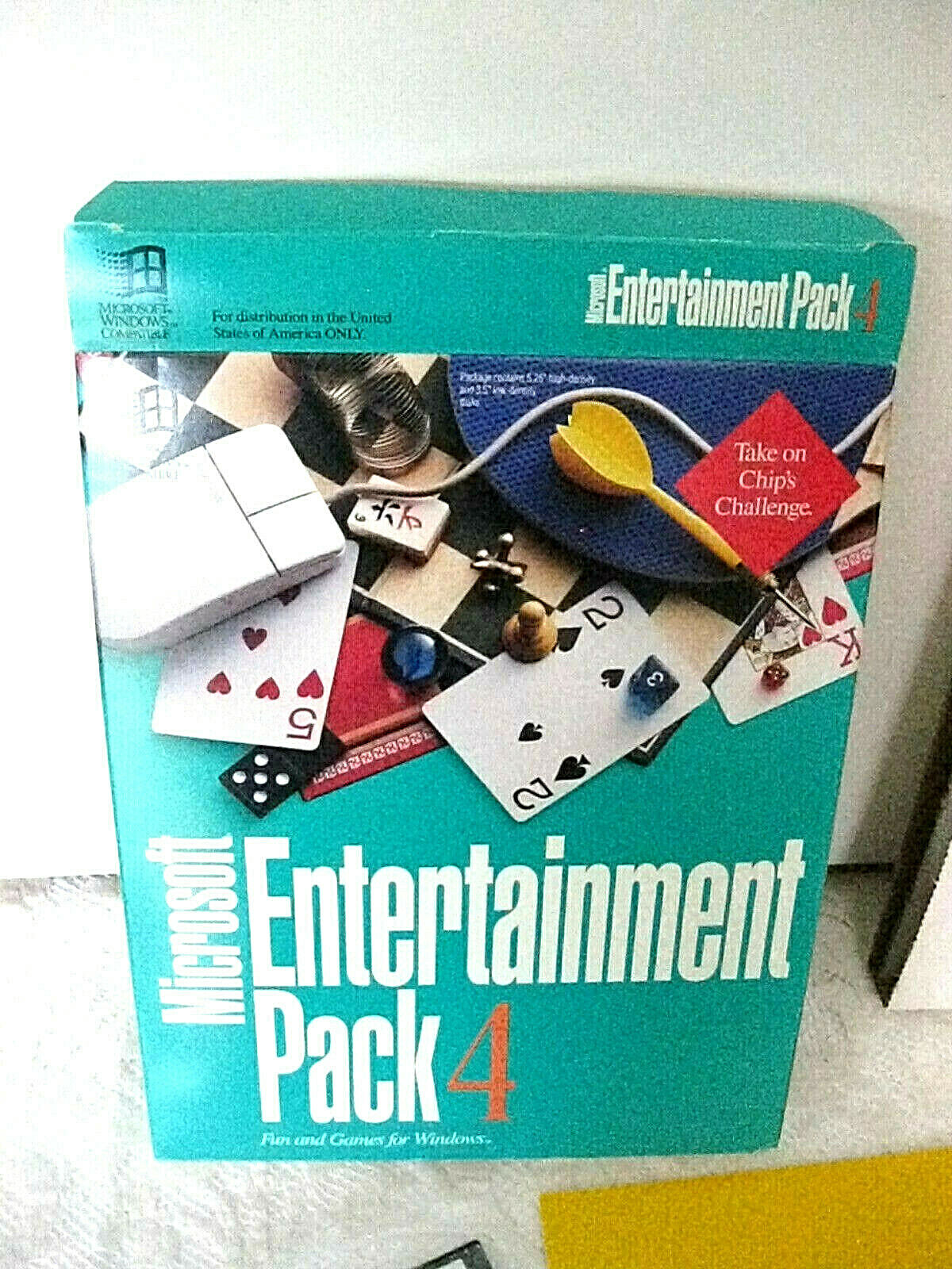 "Computer Games - Microsoft Entertainment Pack 4 Windows Computer Games Original Box 3.5"" Disks of"