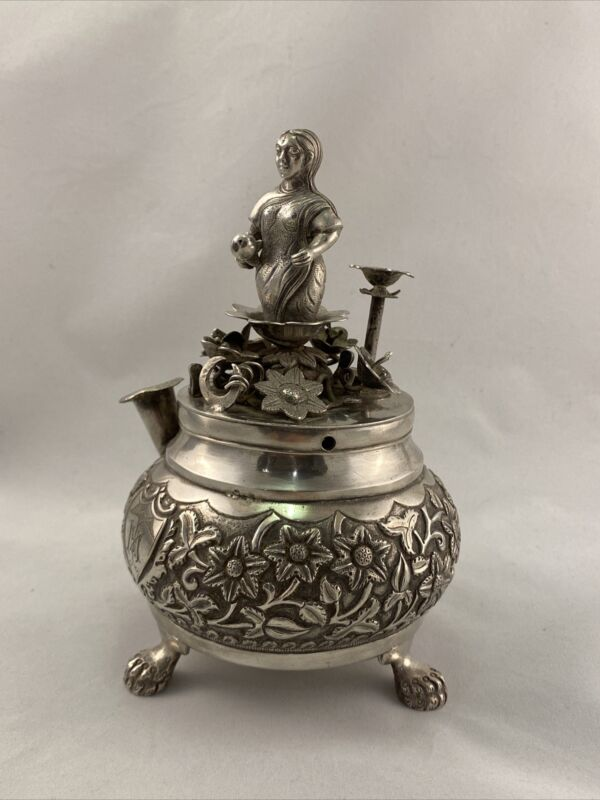 Fine Indian Silver, Kuch Silver Perfume Atomiser, Bhuj, 19th Century, Very Rare