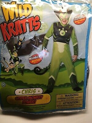 Boys Wild Kratts Green Cheetah Costume Size 4 (Cheetah Costumes For Boys)