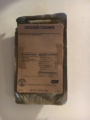 MRE Entree Chicken Chunks 5oz Prepping Camping Survival Hiking
