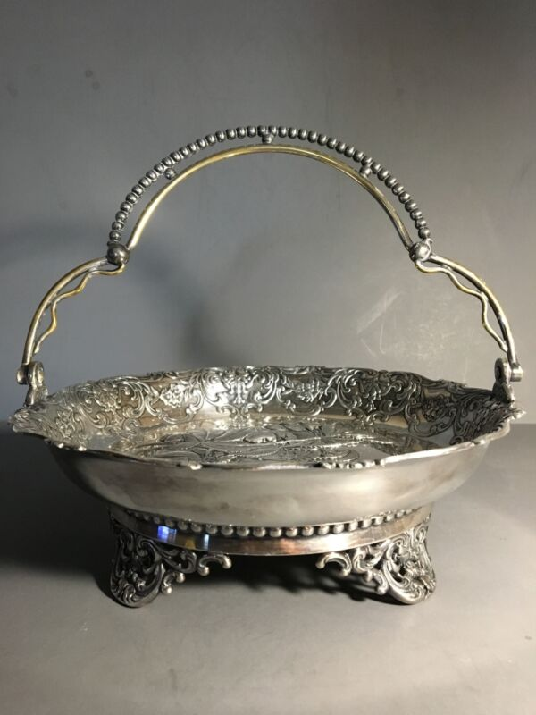 Silver Plated Fruit Basket by Wilcox Silver Plate Co.