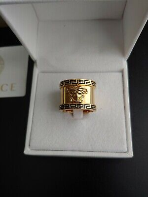 Versace Mens Gold Medusa Ring Size 11