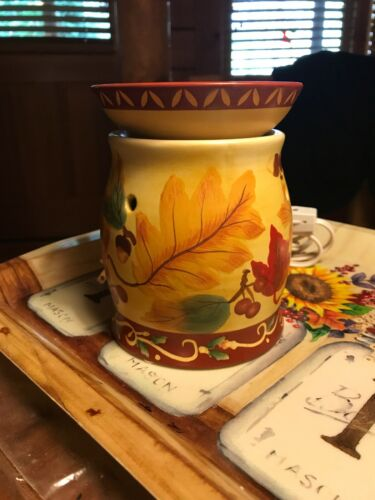 fall oil wax warmer candle holder