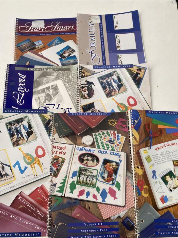 Lot of 7 Creative Memories Fast Formulas Page Design & Layout Idea Books