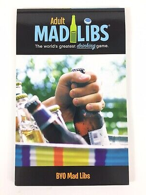 Adult Mad Libs The Worlds Greatest Drinking Game Book BYO Mad Libs NEW