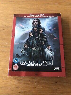 STAR WARS: ROGUE ONE - BLU-RAY 3D + BLU-RAY 2D + BONUS DISC - UK REGION FREE