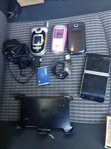 Working Samsung Flip Phones, battery, and BT hands free device