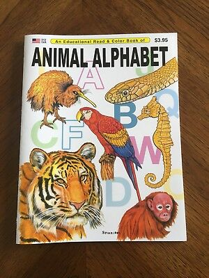 Animal Alphabet - An Educational Read And Color Book - Great For Kids