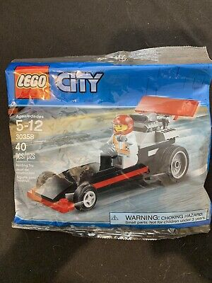 RETiRED RARE Lego City Dragster Polybag 30358 BRAND NEW