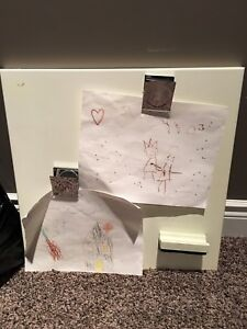 Pottery Barn White board with magnetic brush