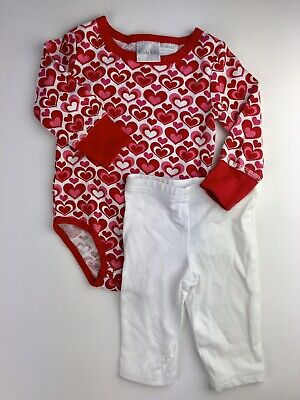 Kids Valentines Outfits (Baby Girl Valentines Heart Outfit 6-9 M Koala Kids / Just One You Red &)