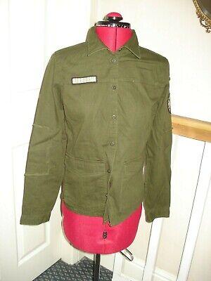 Ladies Jacqueline de Yong Khaki AIRBOURNE Casual Army Shirt Size 12UK