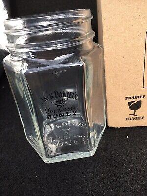 Jack Daniels Honey Mason Jar Glass X6