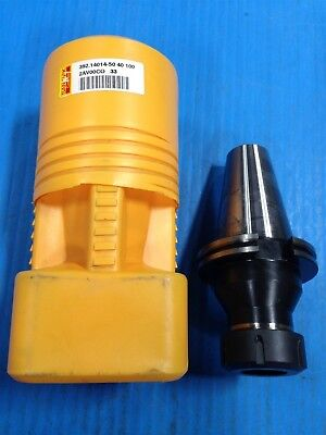 New Sandvik Coromant 392.14014-50 40 100 Collet Chuck Iso50 Tool Holder Q2