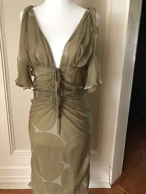 1990's Vintage Gucci Sheer And Sexy Cocktail Dress Sz. 0/2 Never Worn!!!