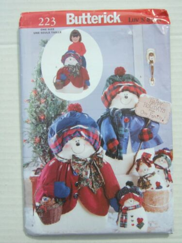 Butterick+UnCut+Craft+Pattern+Snow+Man+%26+Lady+71cms+and+Snow+Babies+28cms+tall+
