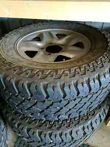 Toyota LandCruiser 100 or 200 series steel rims and tyres Middleton Alexandrina Area Preview