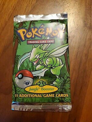 Pokemon 1st Edition Jungle Booster Pack Factory Sealed 1999 Scyther Art