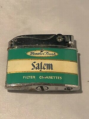 Vintage Zenith Flat Advertising Lighter Salem Menthol Cigarettes