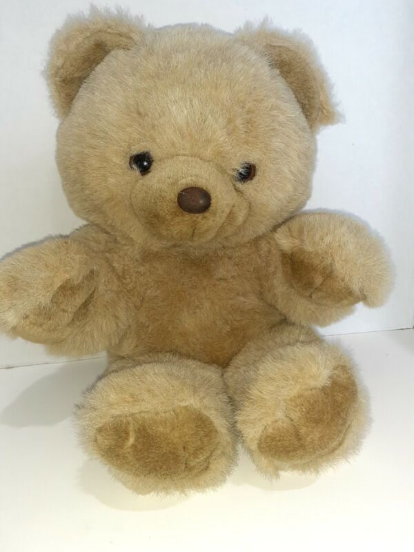Teddy Bear Real Brown Tan Fuzzy Plush Stuffed Animal Toy