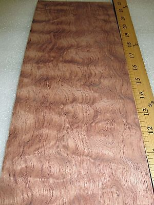 Bubinga Waterfall Quilted Figure Wood Veneer 6 X 14 Raw No Backing 132 Thick