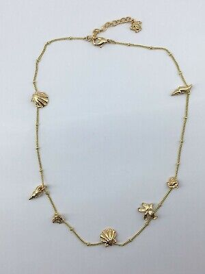 Auth VERSACE Gold Medusa & Summer Sea Shells Necklace - Pre owned / M0874