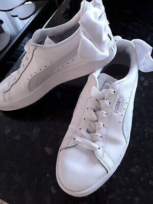 Women's Puma Basket Bow Trainers size 4 ❤🌻🌞 Bargain buy Sale ❤🌻🌞
