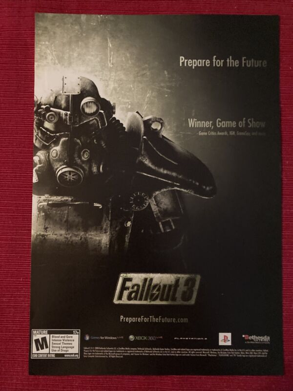 Fallout 3 Xbox PlayStation 2008 Ad/Poster Promo Art