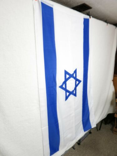 "HUGE 34"" x 60"" Inches Flag of Israel Israeli Jewish Holyland Holy land BRAND NEW"