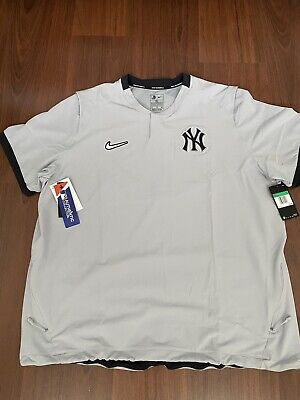 New York Yankees 2020 Authentic Collection Road Short Sleeve Hot Pullover Nike