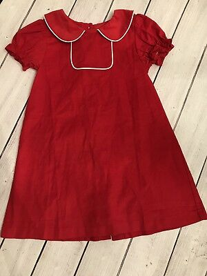 True Brand Boutique Corduroy Toddler Girls Red Dress Christmas Tab Monogram 4t - Monogrammed Toddler Dresses