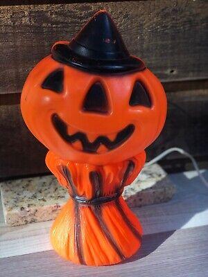 """Vintage 1969 15"""" Empire Plastic Haystack Jac-O-Lantern Blown Mold Lamp"""