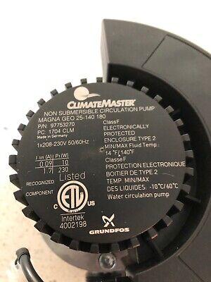 Climate Master Circulation Pump Geo 25-140 180