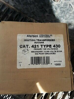 Allanson 421-430 Ignition Transformer 313-25ab90 120v60hz For Ducane Burners